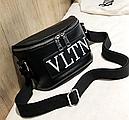 Сумка женская кросс-боди Valentino (черная), фото 4
