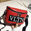 Сумка женская кросс-боди Valentino (красная), фото 2