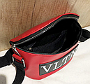 Сумка женская кросс-боди Valentino (красная), фото 3