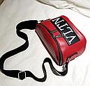 Сумка женская кросс-боди Valentino (красная), фото 4