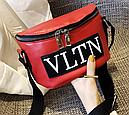 Сумка женская кросс-боди Valentino (красная), фото 7