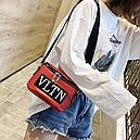 Сумка женская кросс-боди Valentino (красная), фото 8