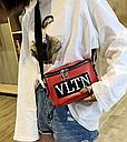 Сумка женская кросс-боди Valentino (красная), фото 9