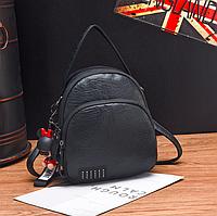Рюкзак женский трансформер сумка кожзам Retro Style черный