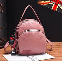 Рюкзак женский трансформер сумка кожзам Retro Style терракотовый, фото 1