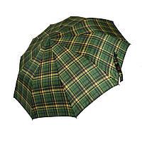 Мужской зонт-полуавтомат в клетку от SL, зеленый, 475-2, фото 1