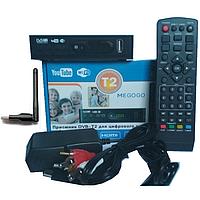 Тюнер DVB-T2 LCD с поддержкой wi-fi адаптера+Megogo, фото 1
