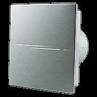 Вентс 100 Квайт Стайл А  осевой вентилятор с  декоративной накладкой  цвет алюминий 7,5Вт  90 м3/ч 26 дБ