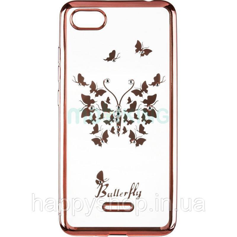 Силиконовый чехол Beckberg для Xiaomi Redmi 6A (Butterfly)