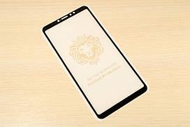 Защитное стекло Full Glue для Xiaomi Mi Max 3 клей по всей поверхности (Black)