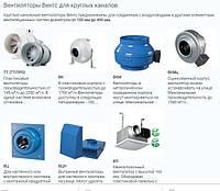 Вентиляторы Вентс для круглых каналов