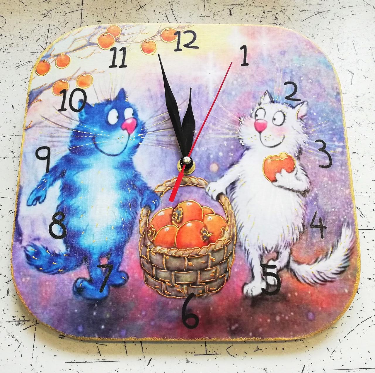 Настенный часы интерьерные с котами 283