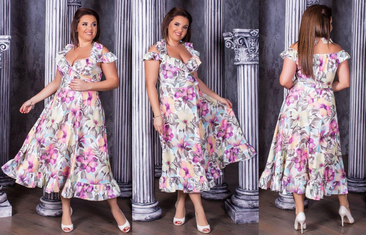 Женское модное летнее платье  НИ03995 (бат)