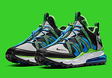 """Кроссовки Nike Air Max 270 Bowfin aj7200 """"Зеленые\Синие\Черные"""", фото 3"""