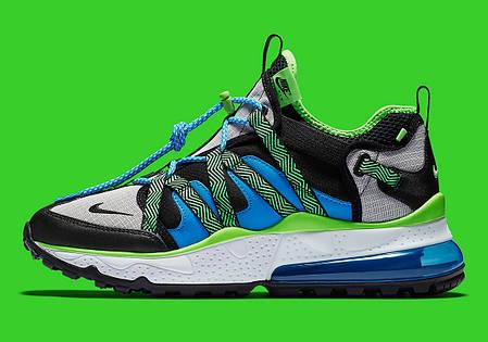 """Кроссовки Nike Air Max 270 Bowfin aj7200 """"Зеленые\Синие\Черные"""", фото 2"""