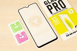 Защитное стекло Full Glue для Samsung Galaxy M20 2019 M205 клей по всей поверхности (Black)