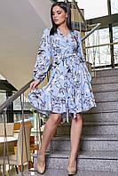 Платье женское красивое в голубом цвете SV 3362