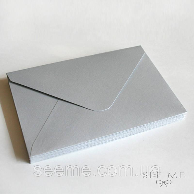 Конверт 162x113 мм, цвет серебряный (silver)