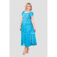Длинное платье  большого размера из хлопка, фото 1
