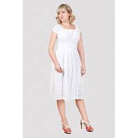 Белый сарафан платье из натуральной ткани