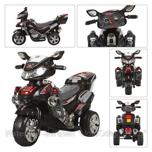 Детский електромотоцикл Bambi черный
