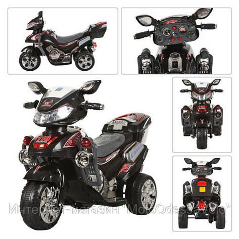 Детский електромотоцикл Bambi черный, фото 2