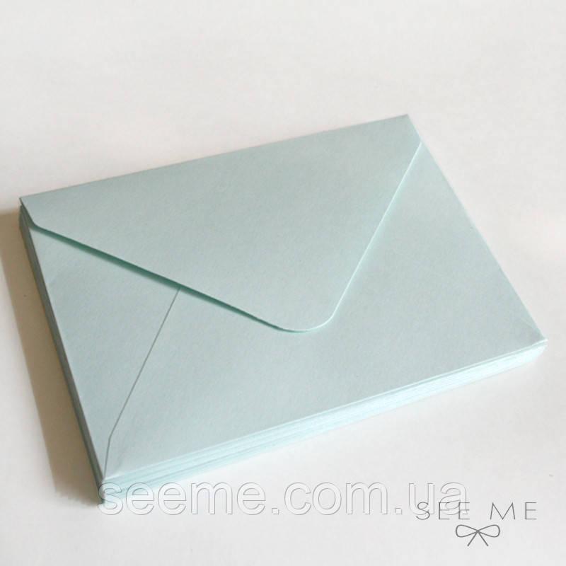 Конверт 162x113 мм, цвет морозная мята (cool mint)