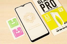 Защитное стекло Full Glue для Samsung Galaxy M10 2019 M105 клей по всей поверхности (Black)