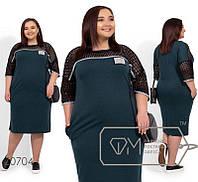 Женское платье,темно-зеленое большого размера 56-58,60-62, фото 1