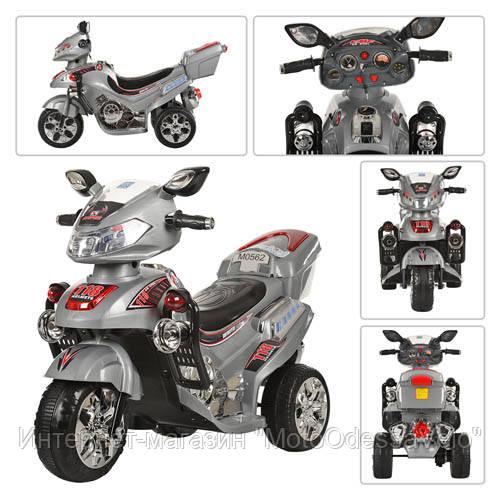 Детский електромотоцикл Bambi серый