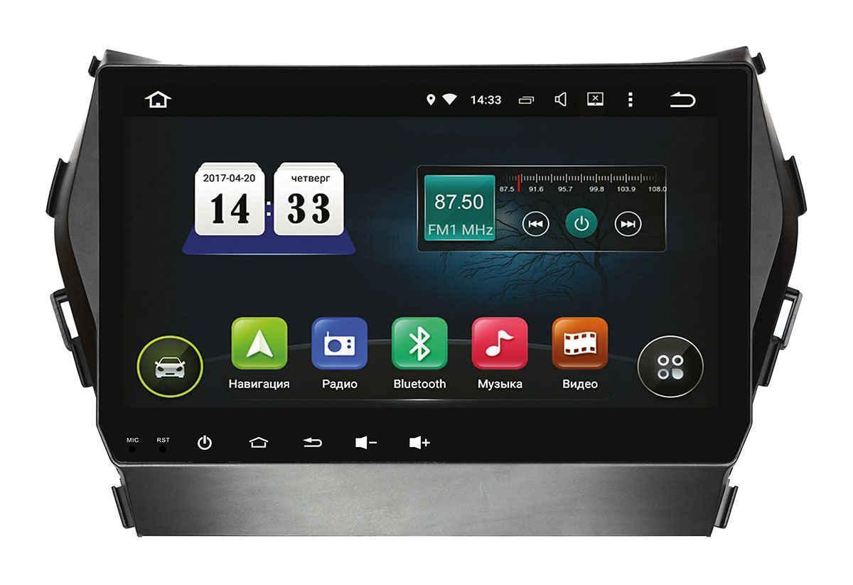 "Магнитола оригинальная Hyundai SANTA FE 2013(IX45) INCar AHR-2483/9 экран 9"" Android 8.1"