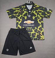 Футбольная форма Манчестер Юнайтед EA Sports зелено-черная (сезон 2018-2019), фото 1
