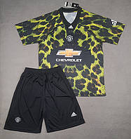 Детская футбольная форма Манчестер Юнайтед EA Sports зелено-черная (сезон 2018-2019), фото 1