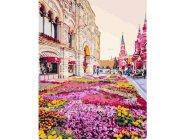 BRM25493 Картина раскраска Розовая клумба Код товара: 181992