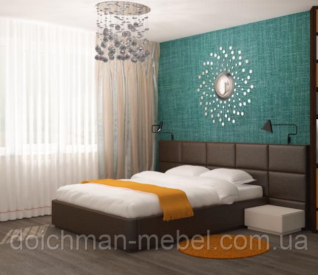 Кровать с мягкими стеновыми панелями на заказ купить в Украине
