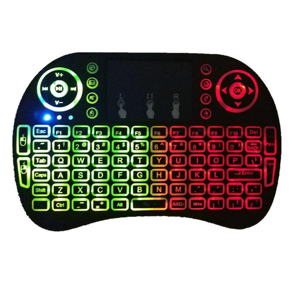 Беспроводная мини клавиатура RT-MWK08 wireless i8 + touch с Led подсветкой