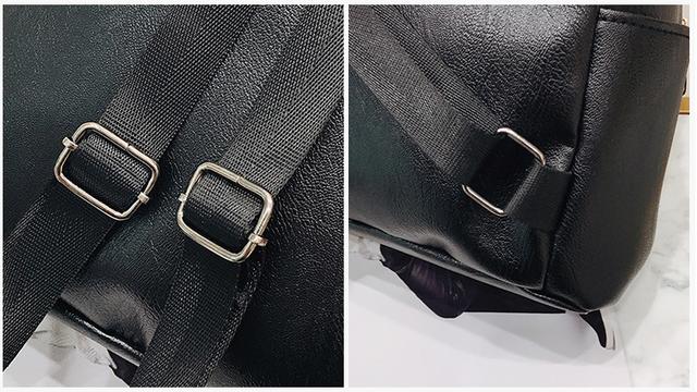 Рюкзак кожзам с двумя вертикальными замками