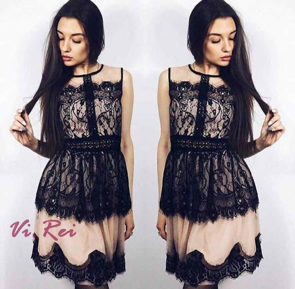047d9cda997 Гипюровое платье с кружевом женское - Интернет-магазин