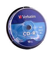 Диск Verbatim CD-R 700 MB/80 min 52x Cake Box 10шт (43437)