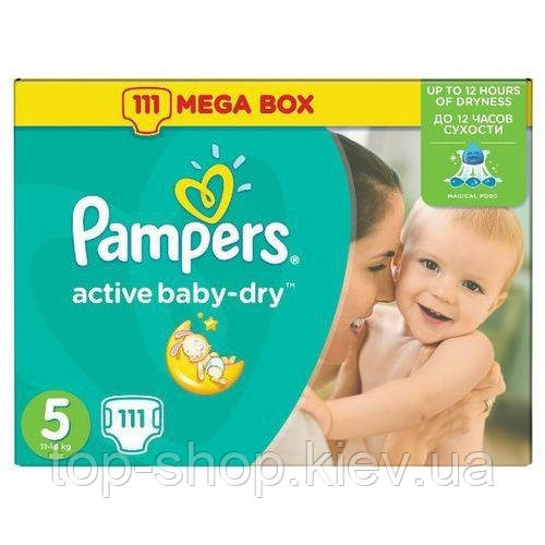 Подгузники Pampers Active Baby-Dry Junior 5 ( 11-18 кг) 87 шт (Памперсы)