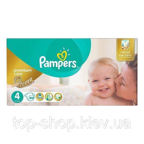 Подгузники Pampers Premium Care Maxi 4 (8-14 кг) 104 шт. (Памперсы)