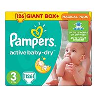 Подгузники Pampers Active Baby-Dry Midi 4-9 кг, 126 шт (Памперсы)
