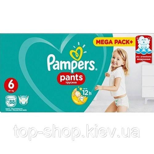 Подгузники-трусики Pampers Pants Extra Large 6 (15+ кг) MEGA PACK, 88 шт. (Памперсы)