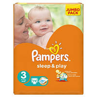 Подгузники Pampers Sleep & Play Midi 4-9 кг, 78 шт