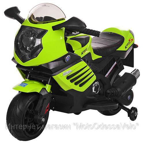 Детский електромотоцикл Bambi зеленый