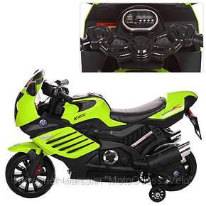 Детский електромотоцикл Bambi зеленый, фото 2