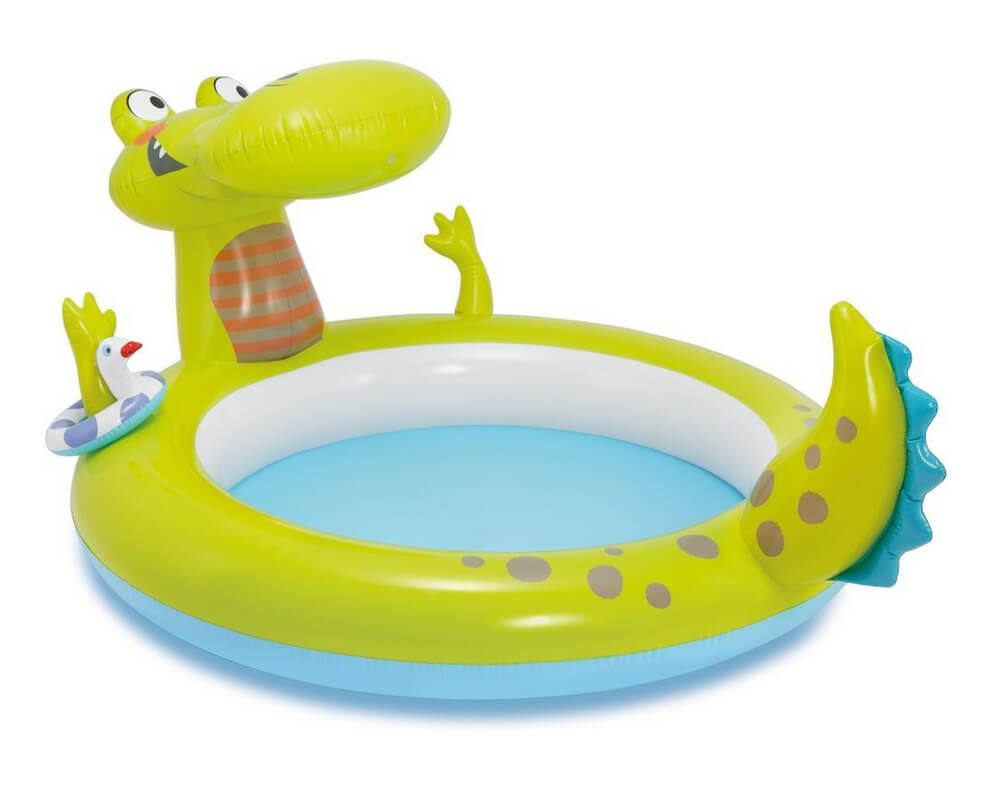 Детский надувной бассейн Intex 57431 Крокодил с фонтаном