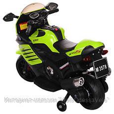 Детский електромотоцикл Bambi зеленый, фото 3