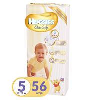 Подгузники Huggies Elite Soft 5 (12-22 кг) MEGA PACK, 56 шт