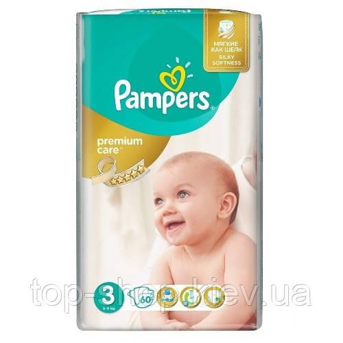 Подгузники Pampers Premium Care Midi 3 (5-9 кг) 60 шт. (Памперсы)